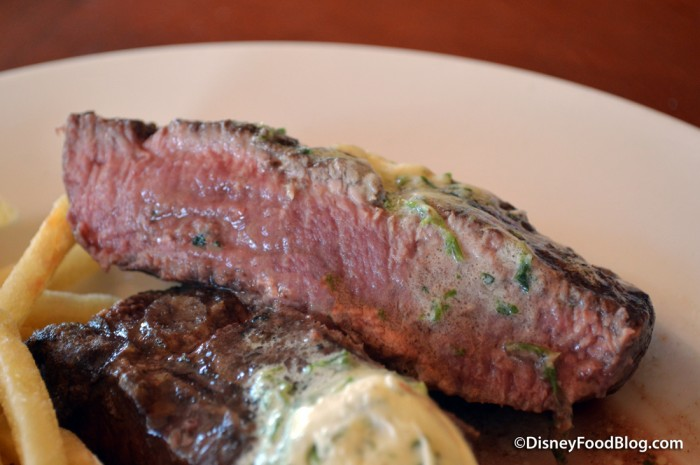 Grilled Flat Iron Steak Cross-Section