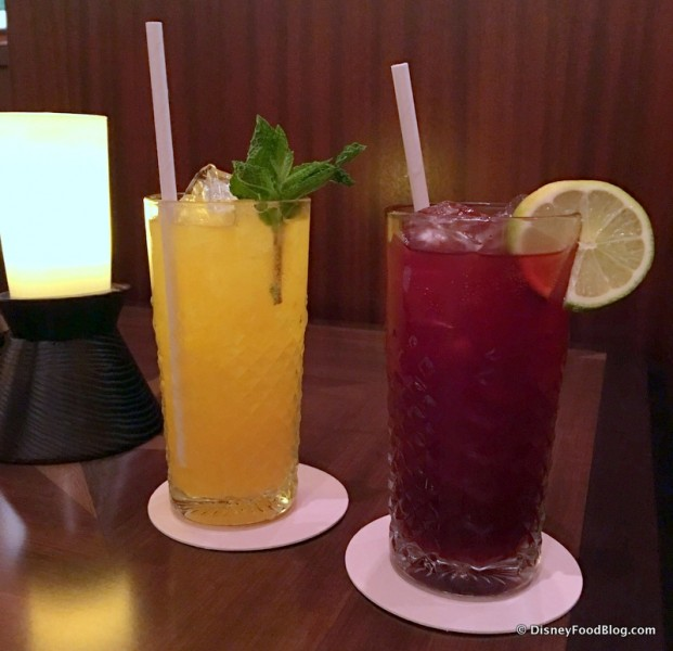 Zingiber Fizzie and the Hibiscus Henna -- Non-Alcoholic Drinks
