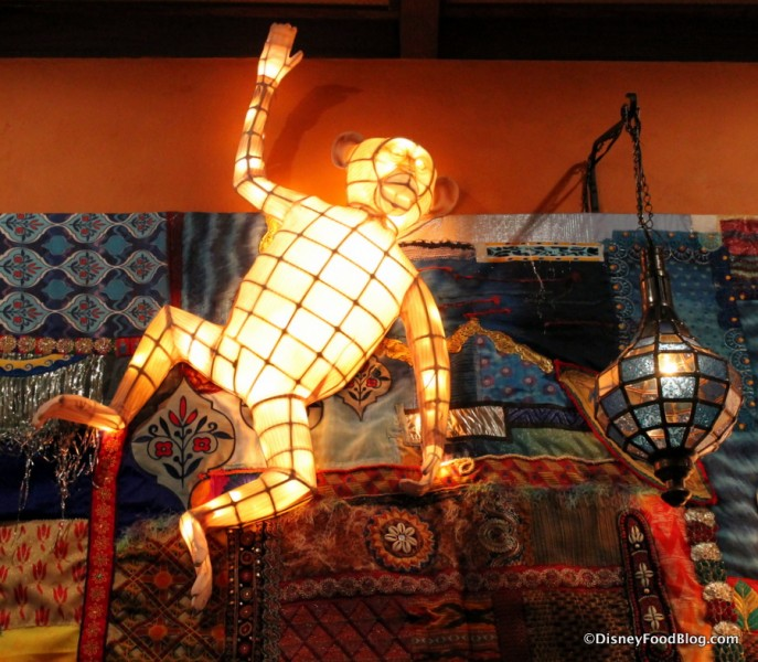 Grand Gallery -- Lantern Wall -- Monkey Up Close