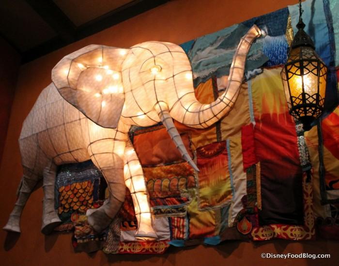 Grand Gallery -- Lantern Wall -- Elephant Up Close