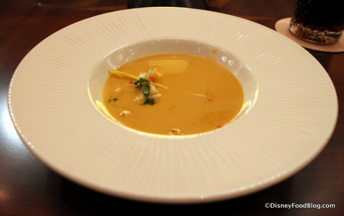 Lobster Popcorn Thai Curry Soup -- Up Close