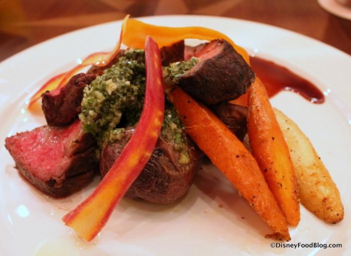 Wagyu Striploin and Braised Short Rib -- Vegetables