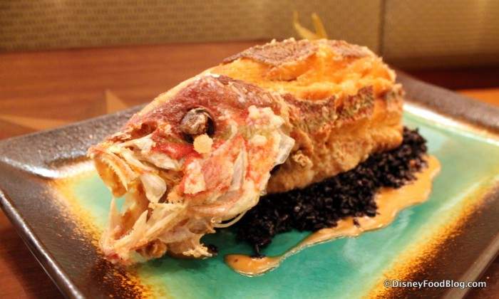 Whole Fried Sustainable Fish -- Up Close