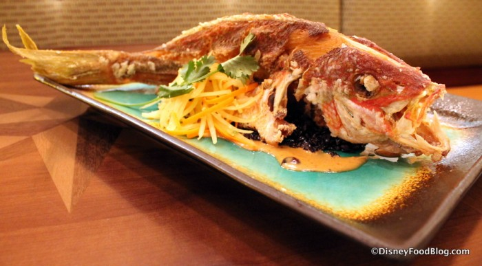 Whole Fried Sustainable Fish -- Another View