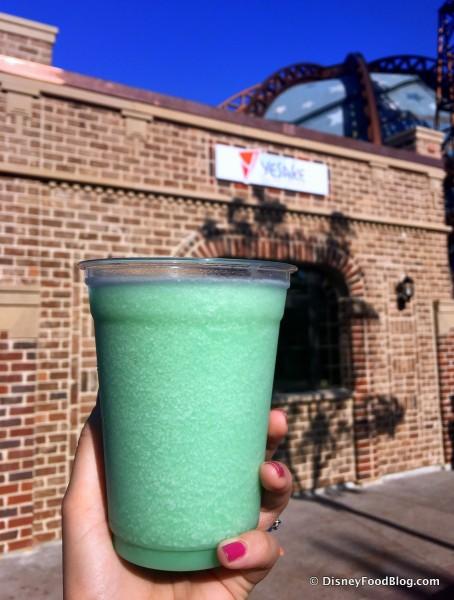 Blue Coconut and Sake Slush