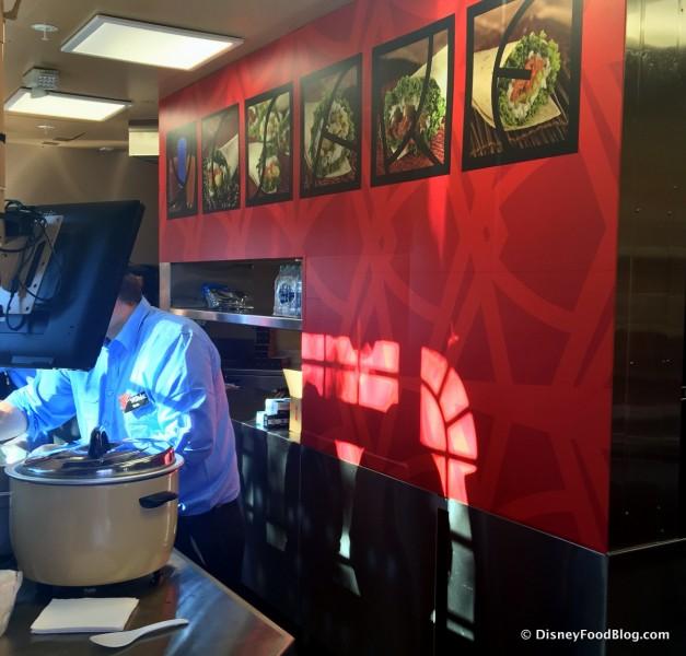 Inside YeSake Kiosk