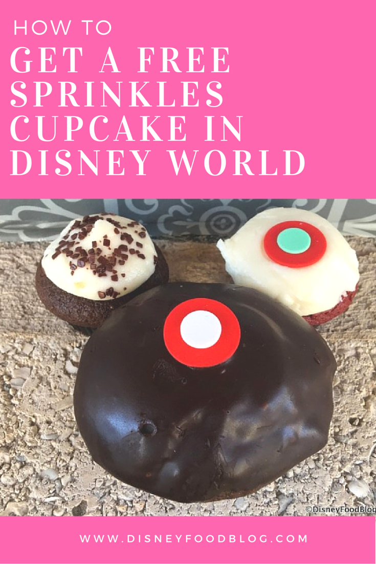 How To Get a FREE Sprinkles Cupcake in Disney World!