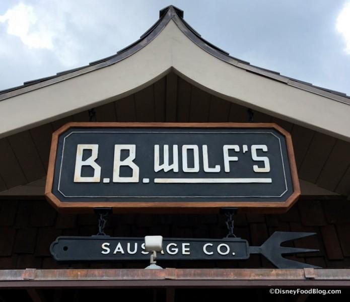 B.B. Wolf's Sausage Co. sign