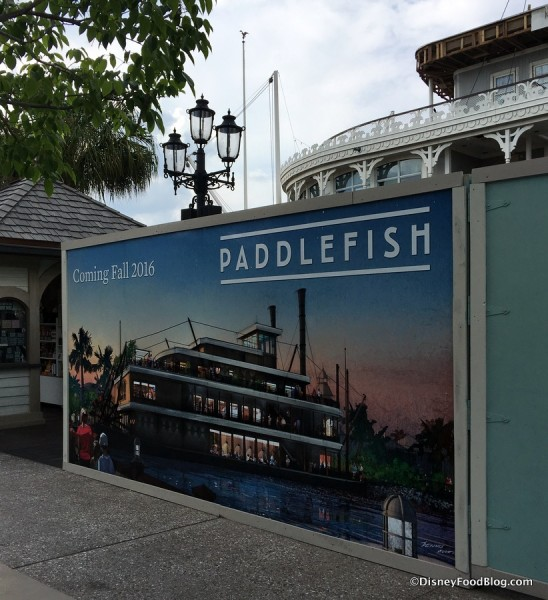Paddlefish construction sign
