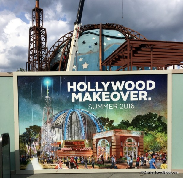 Planet Hollywood Observatory refurbishment underway