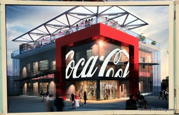 disney springs World of Coca Cola Coke construction 3