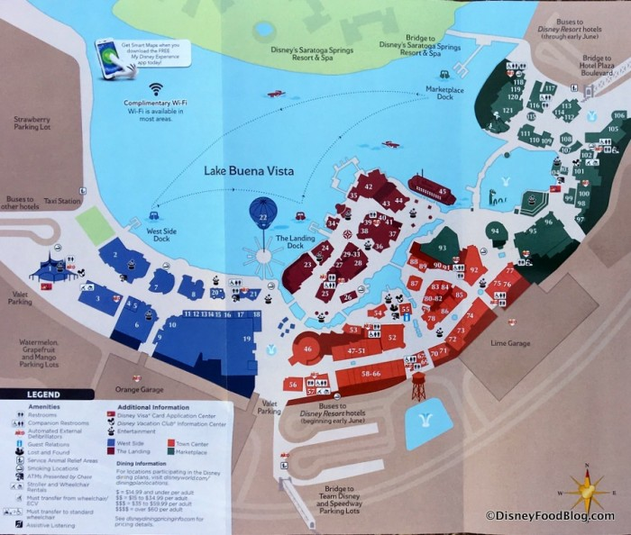 New Disney Springs Map