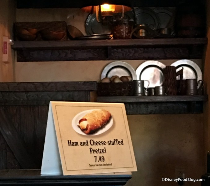 Ham and Cheese-stuffed Pretzel at Gaston's Tavern