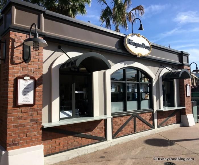 New Häagen-Dazs Kiosk at Disney Springs
