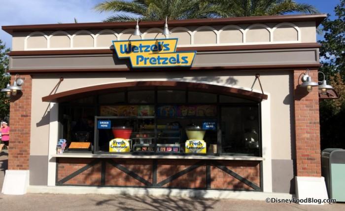 New Wetzels Pretzels Kiosk at Disney Springs
