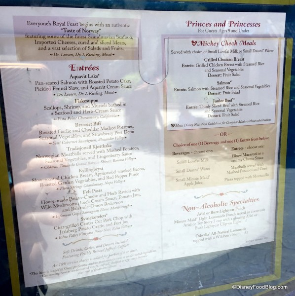 Akershus All-Day Menu