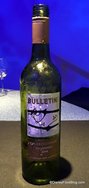 Australia Bulletin Place Unoaked Chardonnay