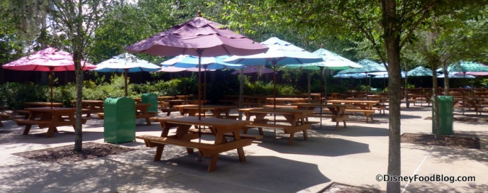 Tables at Lottawatta Lodge