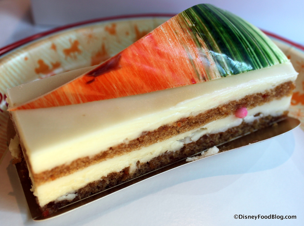 Carrot Cake With Piped Carrots