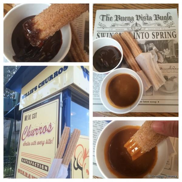 Disneyland Snack Hack -- Churros + Dipping Sauces!
