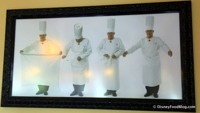How to Wear Your Apron in Chef Paul Bocuse's Kitchen. :-)