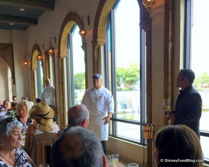The Chef Speaking About the Dishes