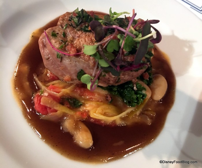 Wine & Dine Studio Pork Tenderloin with Cannellini Bean Ragout and Zinfandel Reduction