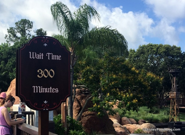 Wait Time for Frozen Ever After on Opening Day