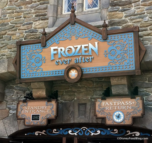 Frozen Ever After Entrance