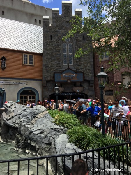 Lines for Frozen Ever After Opening Weekend