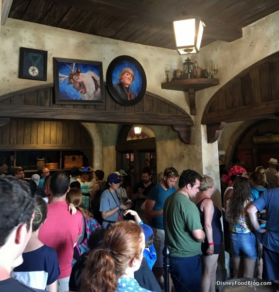 The Inside Queue for Frozen Ever After