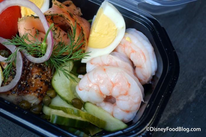 Shrimp, Pickels and Egg