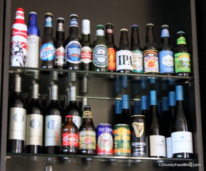 Beer and Wine Selections