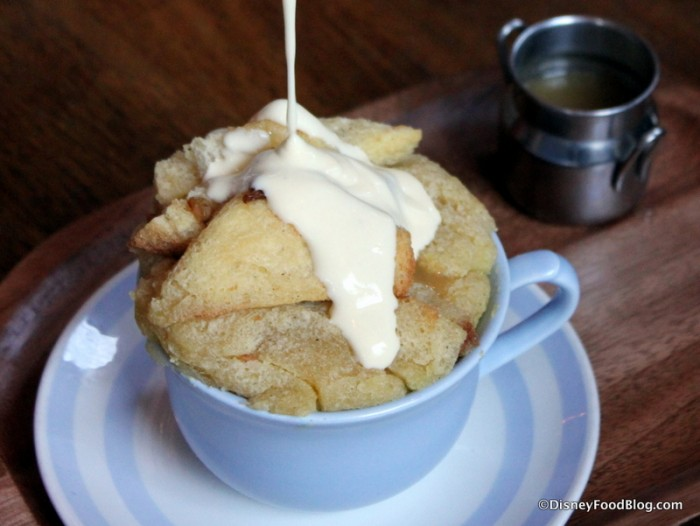 Ger's Bread and Butter Pudding -- Pouring the Sauce
