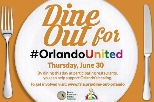 News: Several Disney World Restaurants to Participate in Dine Out for #OrlandoUnited