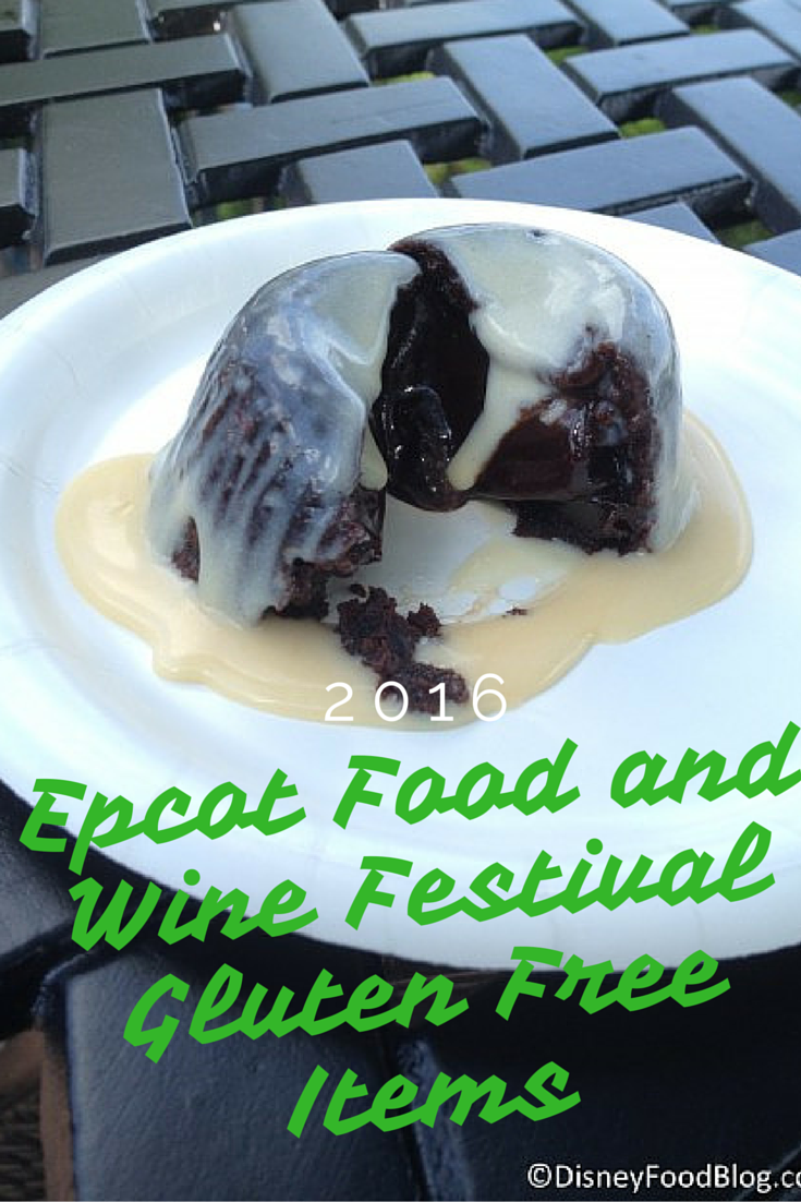 2016 Epcot Food and Wine Festival Gluten Free Items
