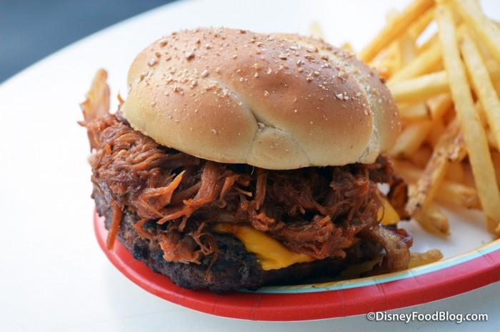 Barbecued Pork Bacon Cheeseburger