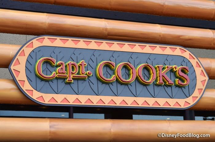 Captain Cook's entrance sign
