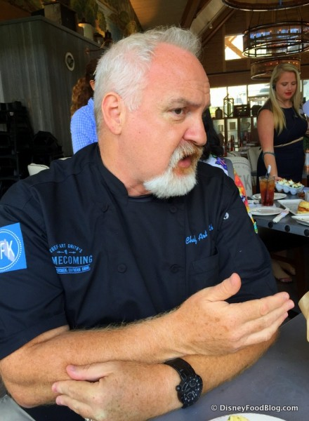 Chef Art Smith Discussing Some of the Menu Items