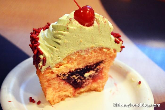 Cherry Cupcake Cross-Section