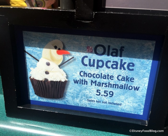 Updated Olaf Cupcake