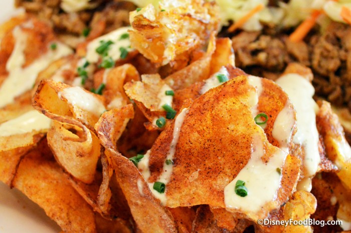 Homemade BBQ Chips with Icebox Dressing