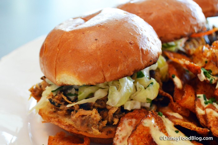 Chopped Pork Barbecue Sandwich -- Up Close