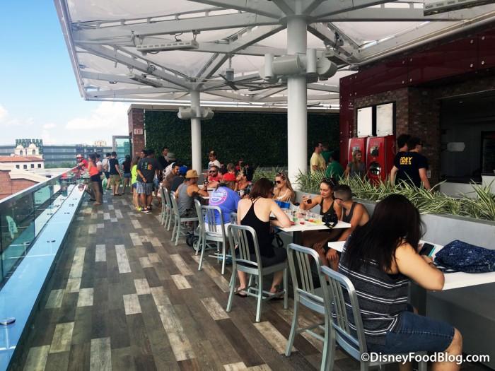 Coca-cola Store Rooftop Beverage Bar Area