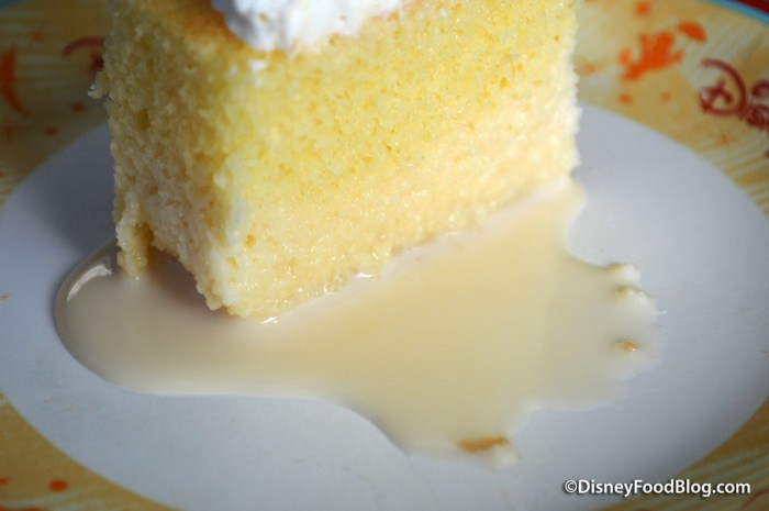 Close up of Coconut Tres Leches mmm....