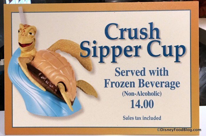 Crush Sipper Cup sign