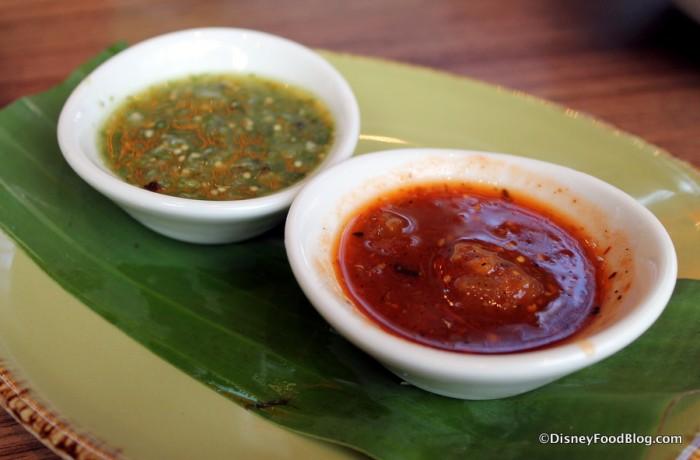 Salsa Verde and Smoky Chipotle Salsa