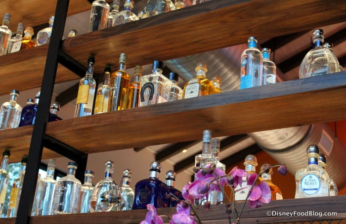 Bottles near the entrance of Frontera Cocina