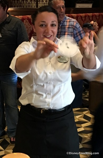 Bartender performing a trick