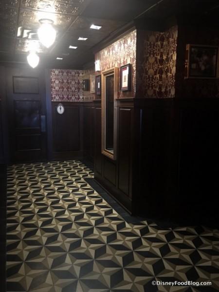 Hallway with Restrooms